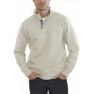 Orvis Oatmeal Signature Fleece Pullover Size Large